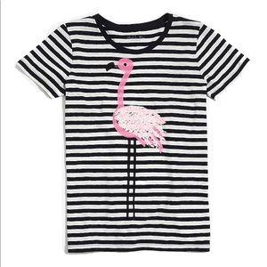 J crew Flamingo striped collector T-shirt xxs